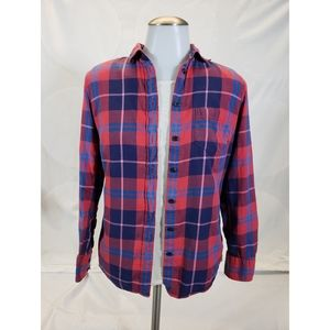 J. Crew Perfect Fit Flannel Plaid Button Up XS